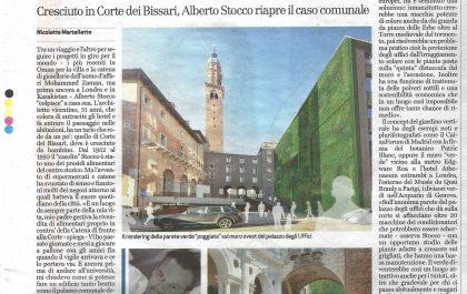 GIORNALE DI VICENZA 17 SETT. 018 VERTICAL GREEN CORTE DEI BISSARI VICENZA ARCHITETTO ALBERTO STOCCO STUDIO67