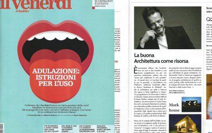 il Venerdì Repubblica Architetto Alberto Stocco 06nov015