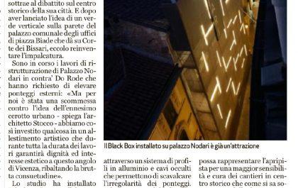 ARTICOLO GdV BLACKBOX temporary VICENZA ARCHITETTO STUDIO67 ARCHITETTI ALBERTO STOCCO